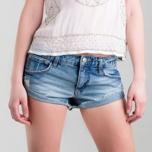 Free People High Rise Irreplaceable Cut Off Shorts
